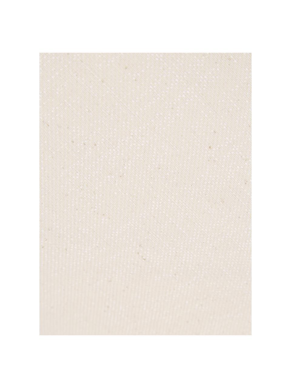 Kissenhülle Tine mit Fransen, Webart: Jacquard, Hellbeige, 30 x 50 cm