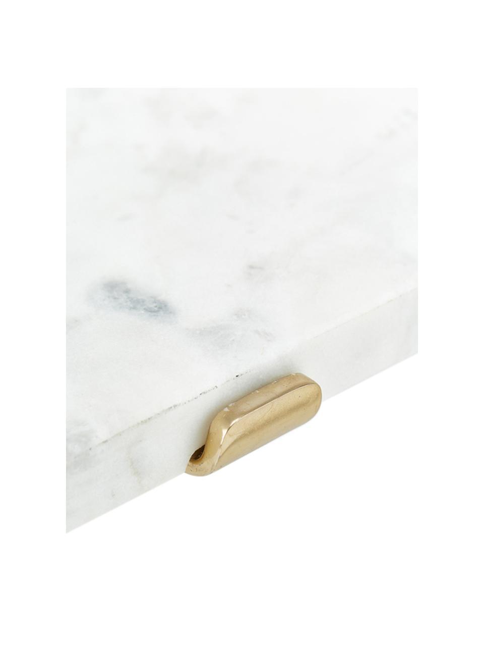 Półka ścienna z marmuru Porter, Biały, S 60 x W 16 cm