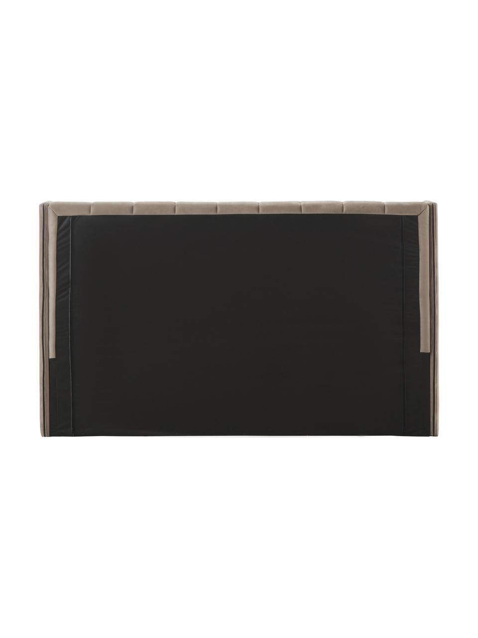 Gestoffeerd fluwelen bed Dusk in bruin, Frame: massief grenenhout en pla, Bekleding: polyester fluweel, 290 g/, Poten: gepoedercoat metaal, Bruin, 200 x 200 cm