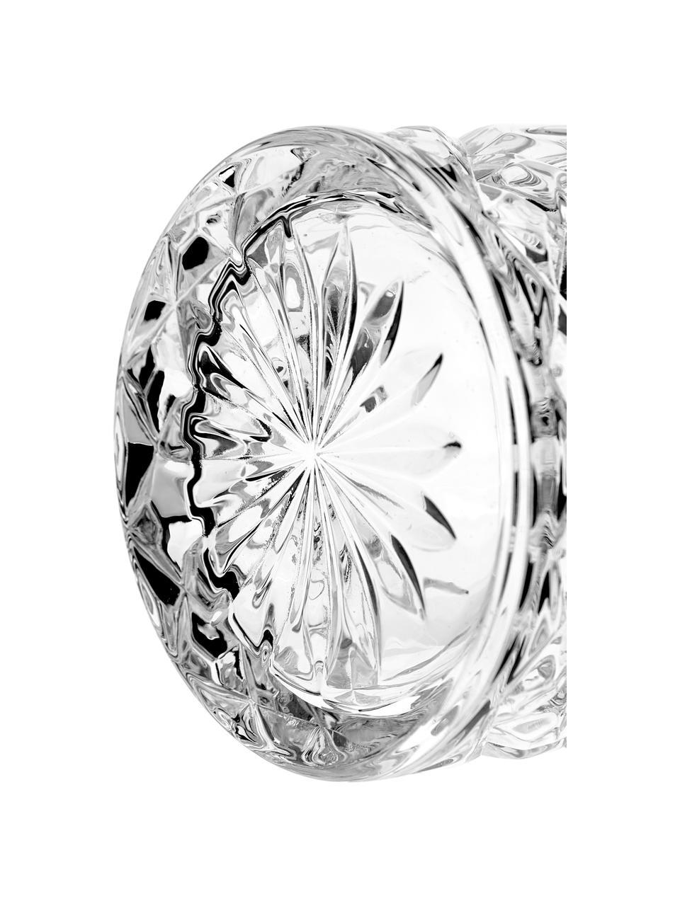 Verre en cristal avec relief George, 4pièces, Transparent