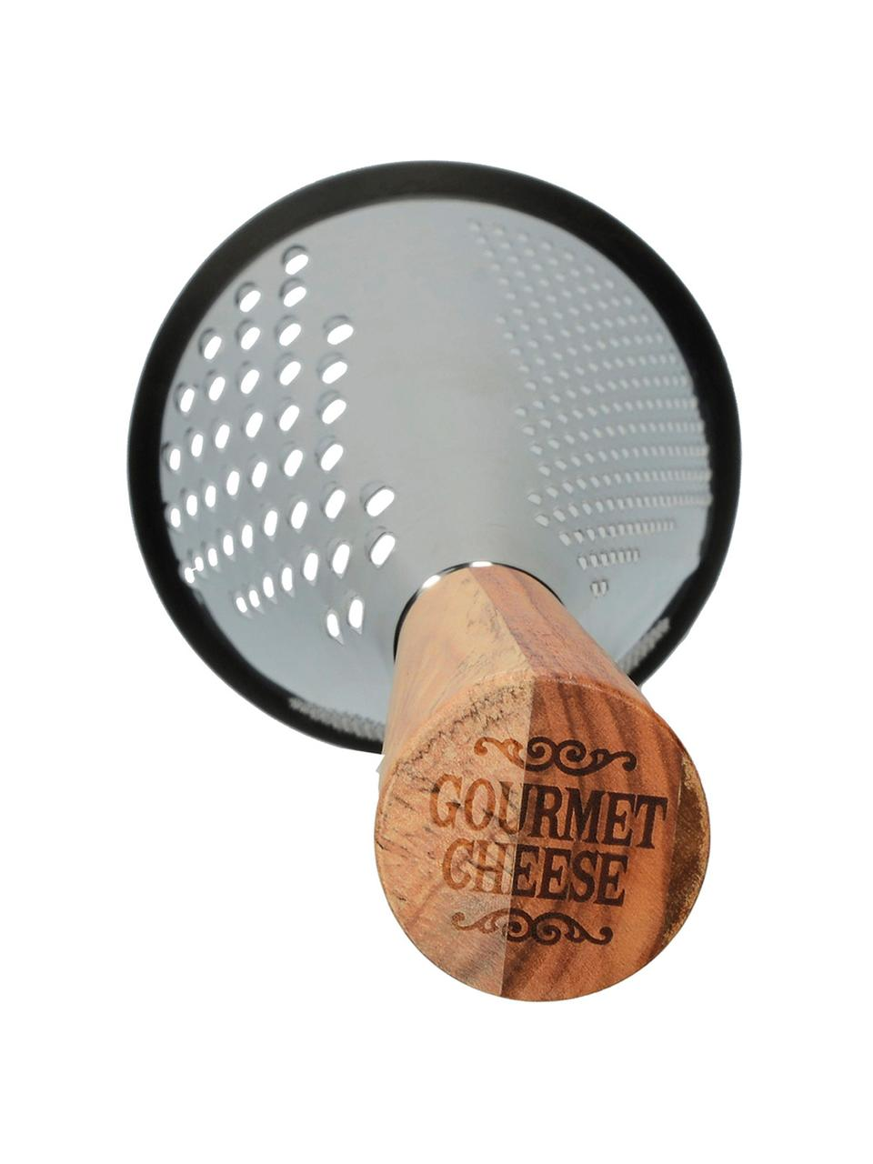 Grattugia Gourmet, Manico: legno, Marrone, acciaio inossidabile, Ø 11 x Alt. 29 cm