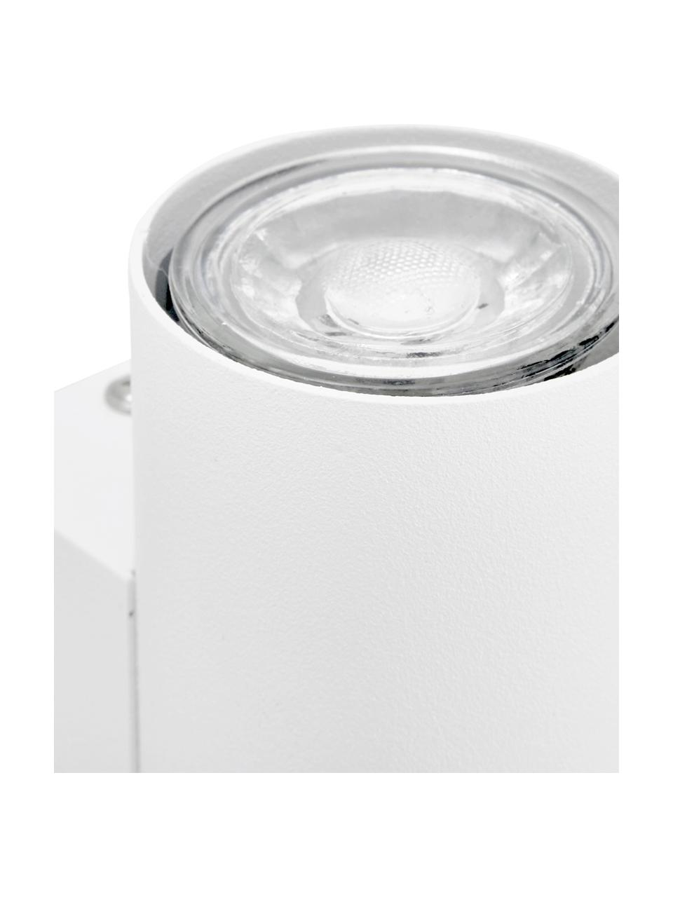 Applique a LED Paul, Paralume: metallo verniciato a polv, Bianco, Larg. 6 x Alt. 9 cm