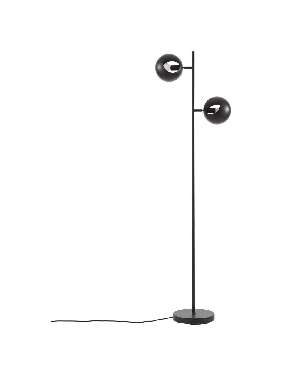 Lampada da lettura nera Edgar, Paralume: metallo verniciato, Base della lampada: metallo verniciato, Nero, Larg. 40 x Alt. 145 cm