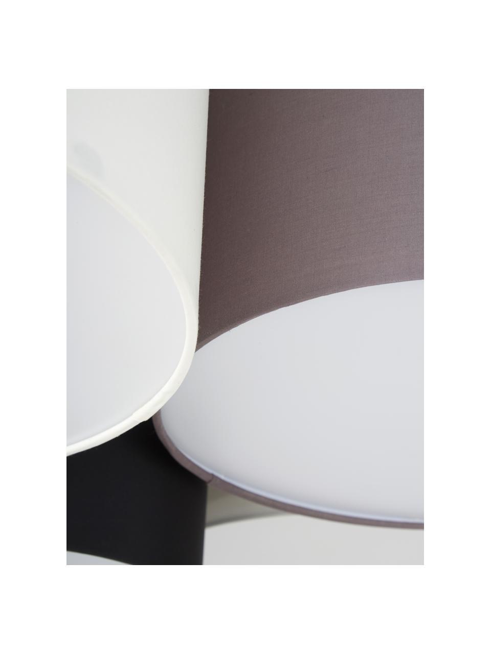 Duża lampa sufitowa Pastore, Brązowy, szary, biały, czarny, Ø 99 x W 29 cm