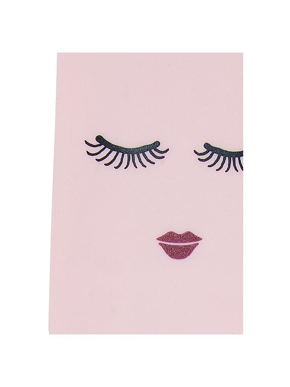 Deegspatel Eyes, Siliconen, bamboehout, Bamboehoutkleurig, roze, zwart, L 25 cm