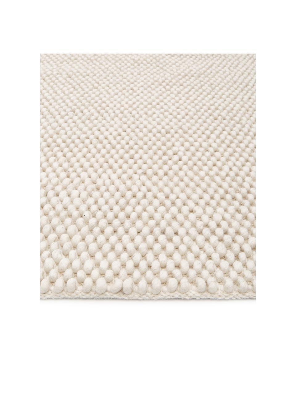 Tappeto in lana color avorio maculato cucito a mano My Loft, Retro: 100% cotone Nel caso dei , Avorio, Larg. 200 x Lung. 290 cm (taglia L)