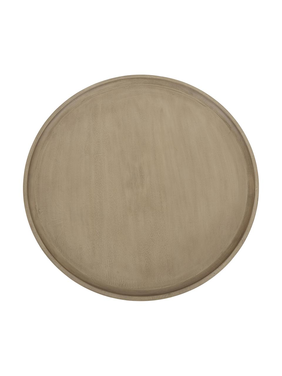 Couchtisch Benno aus Mangoholz in Hellbraun, Massives Mangoholz, lackiert, Hellbraun, Ø 80 x H 35 cm