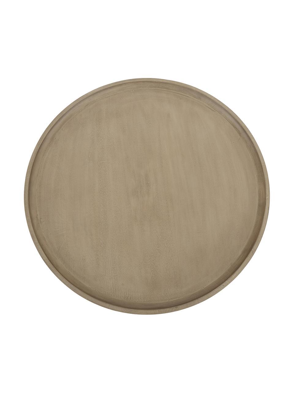 Stolik kawowy z drewna mangowego Benno, Lite drewno mangowe, lakierowane, Drewno mangowe, czarny lakierowany, Ø 80 x W 35 cm