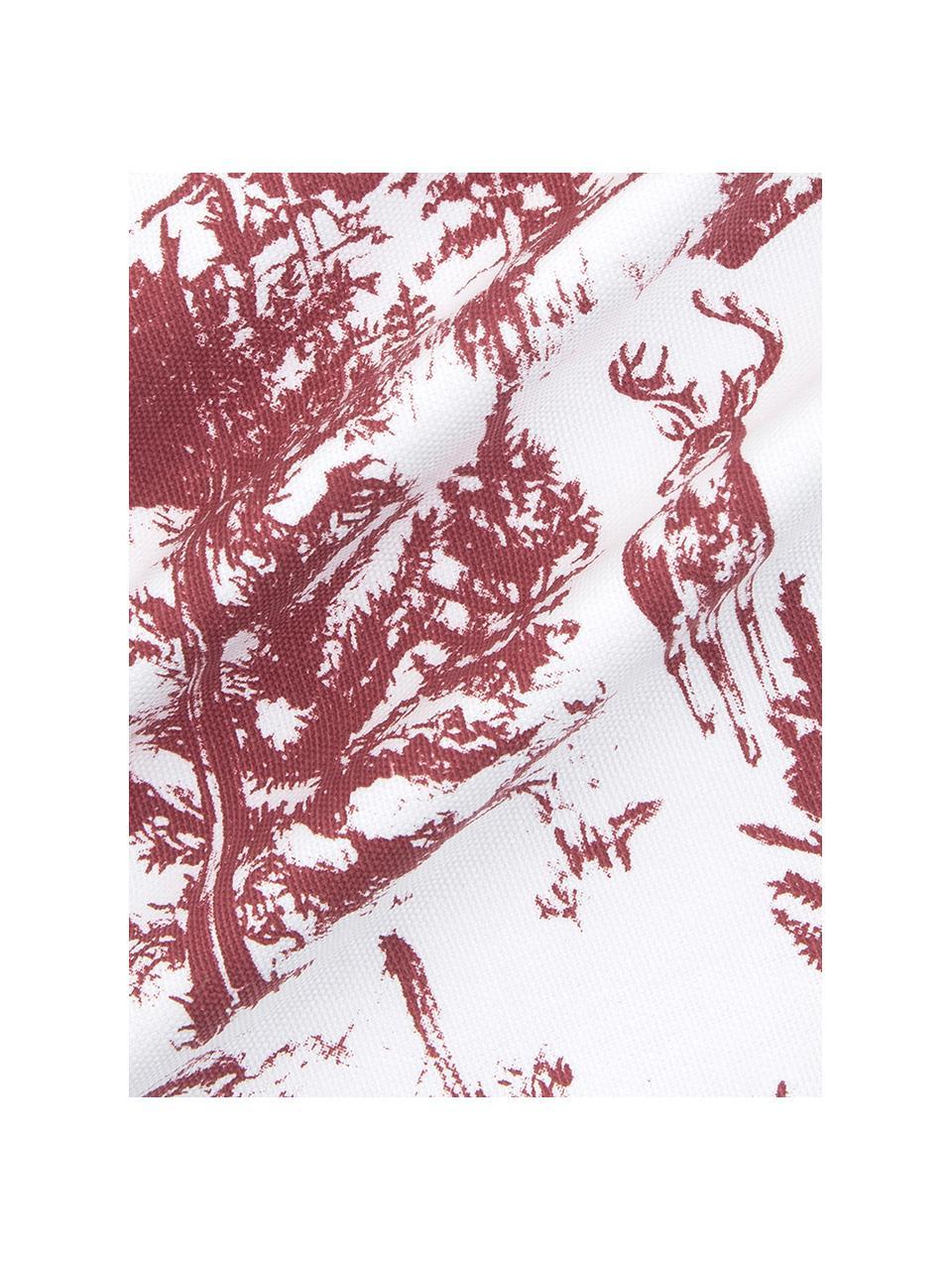 Poszewka na poduszkę  Nordic, 100% bawełna, Biały, czerwony, S 40 x D 40 cm