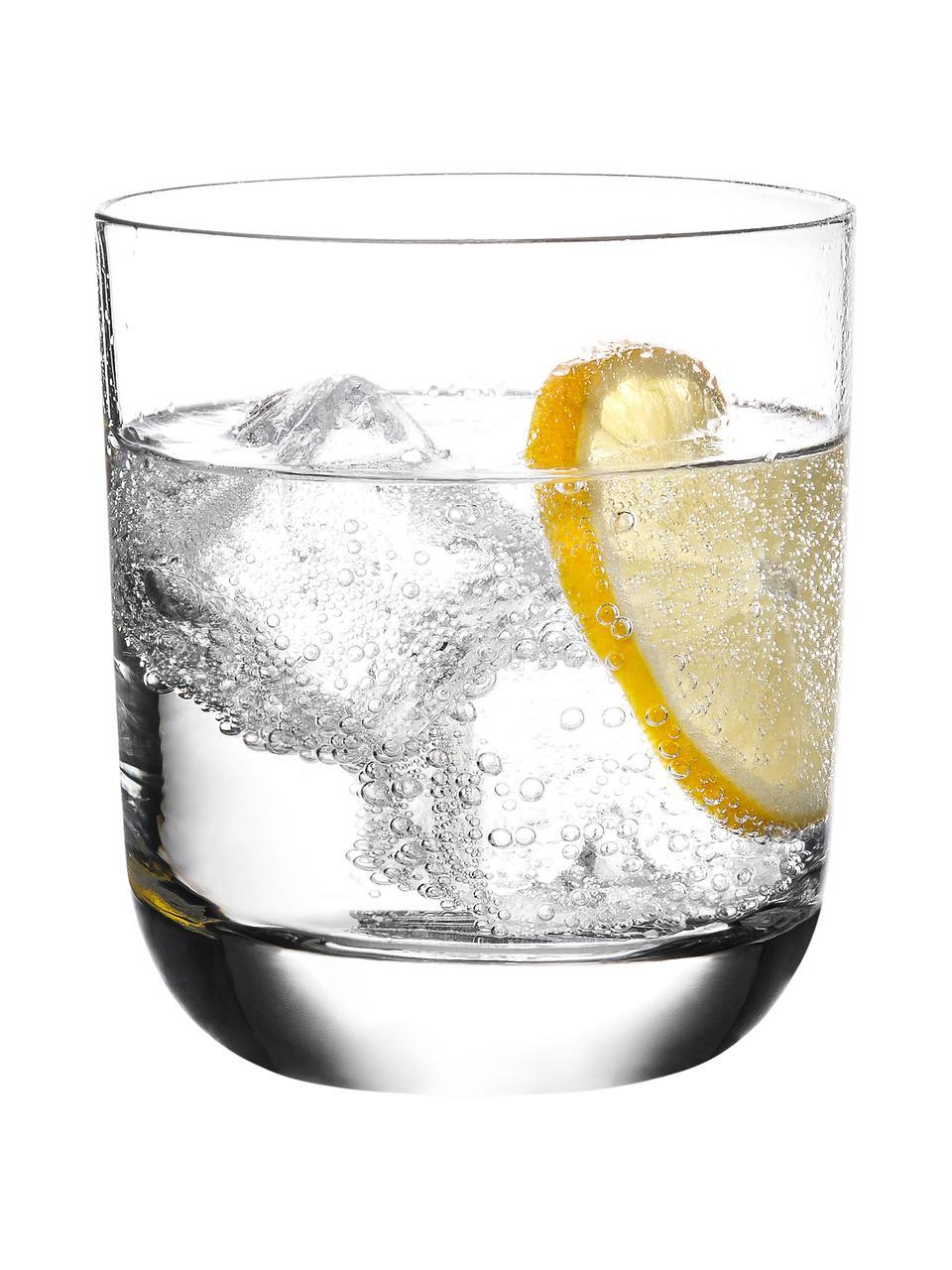 Kristallgläser Harmony aus glattem Kristallglas, 6 Stück, Edelster Glanz – das Kristallglas bricht einfallendes Licht besonders stark., Transparent, Ø 9 x H 10 cm