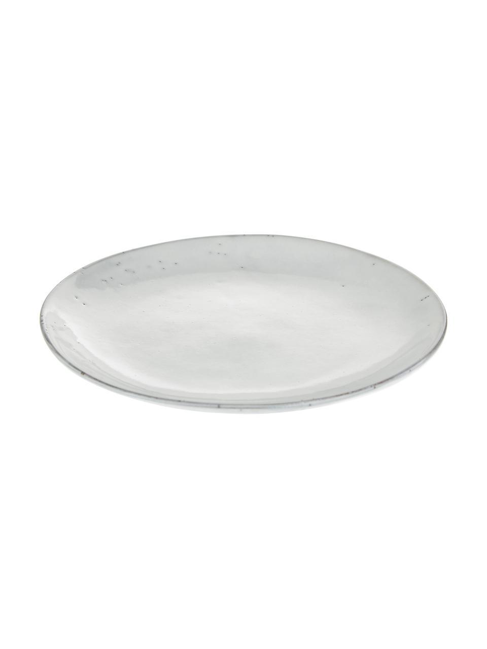 Ręcznie wykonany talerz śniadaniowy z kamionki Nordic Sand, 4 szt., Kamionka, Piaskowy, Ø 20 x W 3 cm