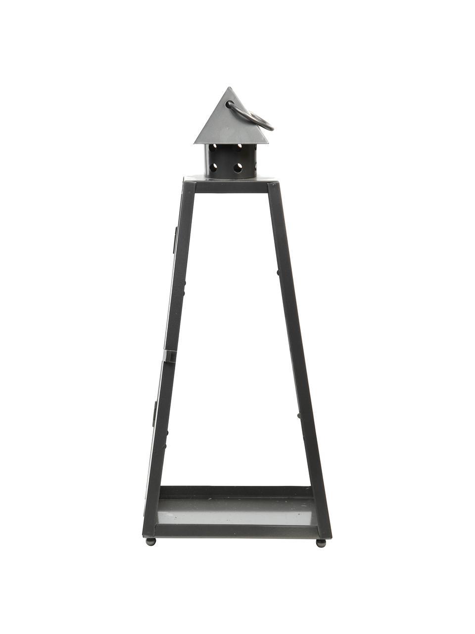 Lanterna Piramid, Grigio scuro, Larg. 17 x Alt. 40 cm