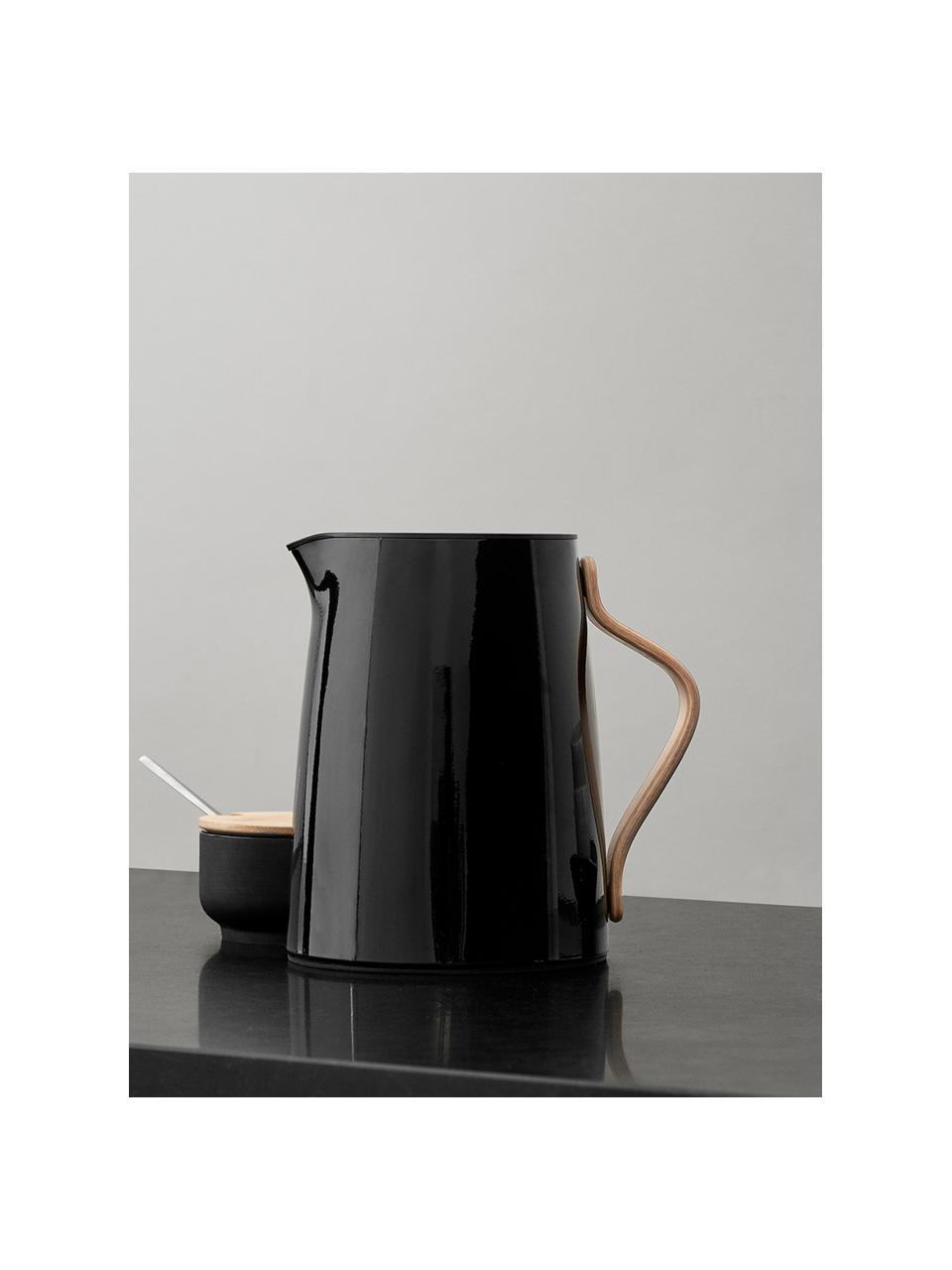 Theemaker Emma in glanzend zwart, 1 L, Frame: staal, Zwart, 1 L