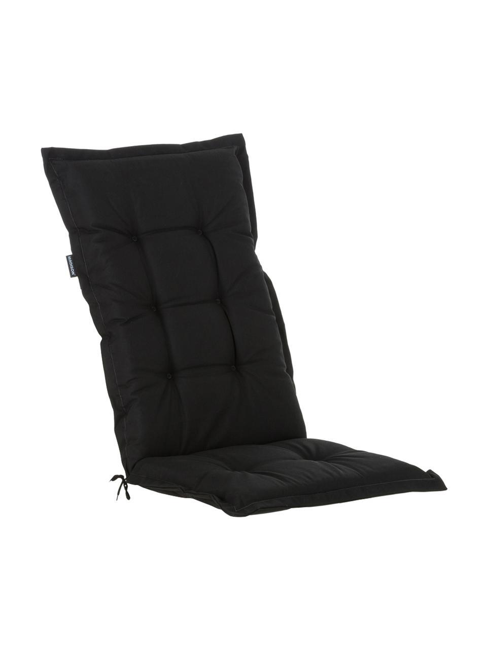 Cojín para silla con respaldo Panama, Funda: 50%algodón, 50%poliéste, Negro, An 50 x L 123 cm