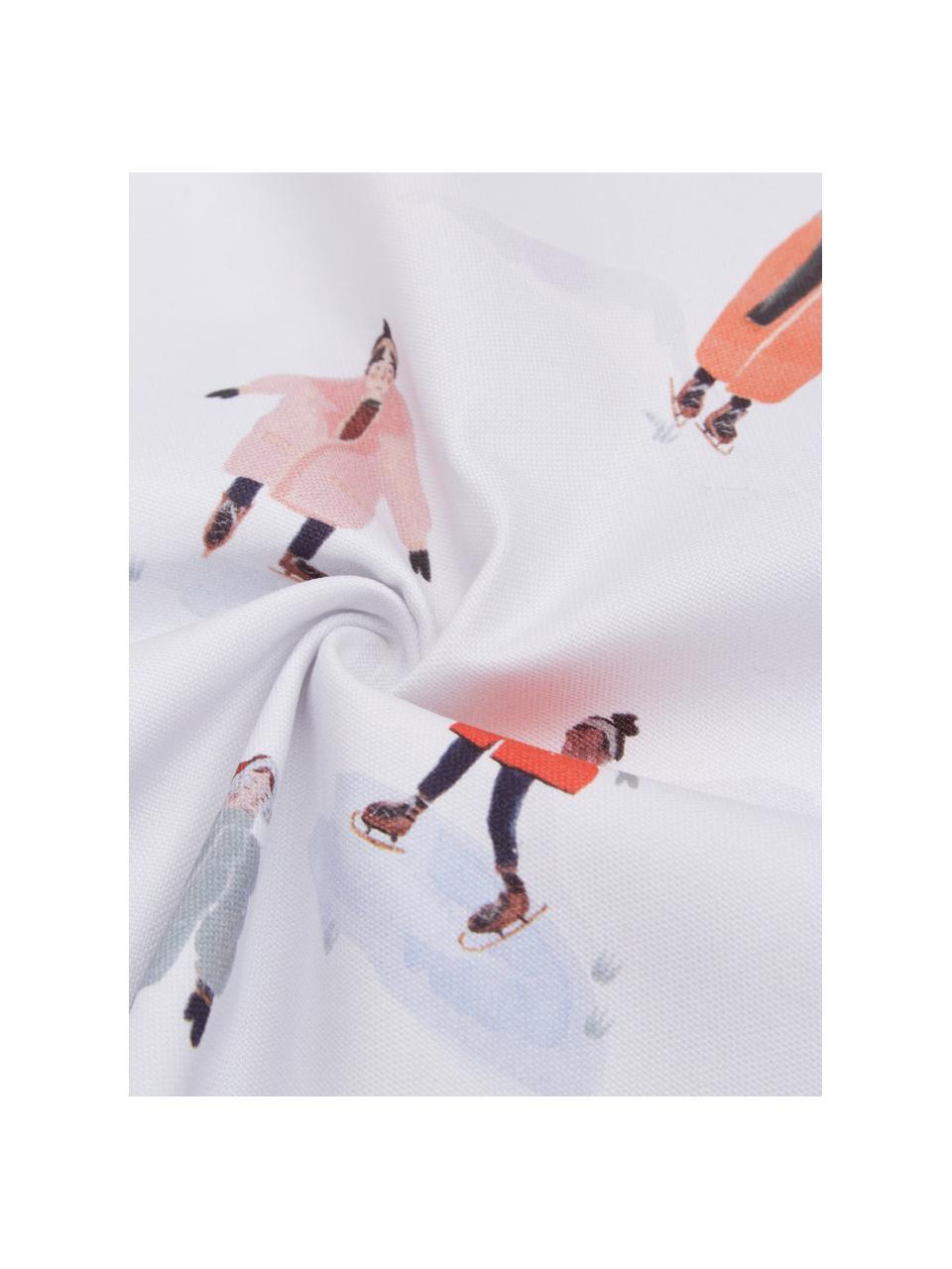 Designer Kissenhülle Ice Skater von Candice Gray, 100% Baumwolle, GOTS zertifiziert, Mehrfarbig, 45 x 45 cm