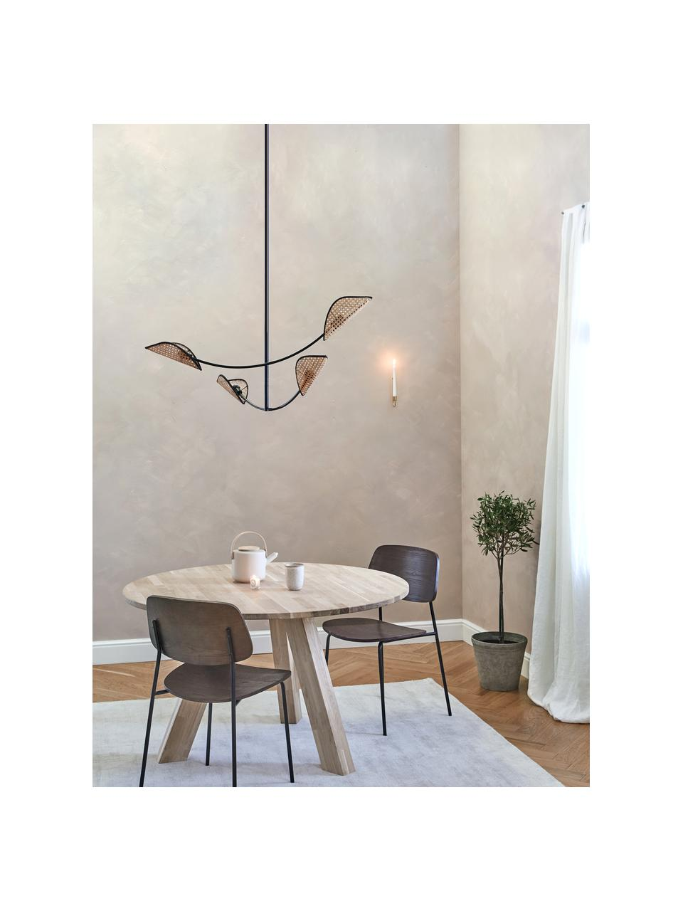 Lampa wisząca z plecionki wiedeńskiej Freja, Czarny, S 112 x W 89 cm