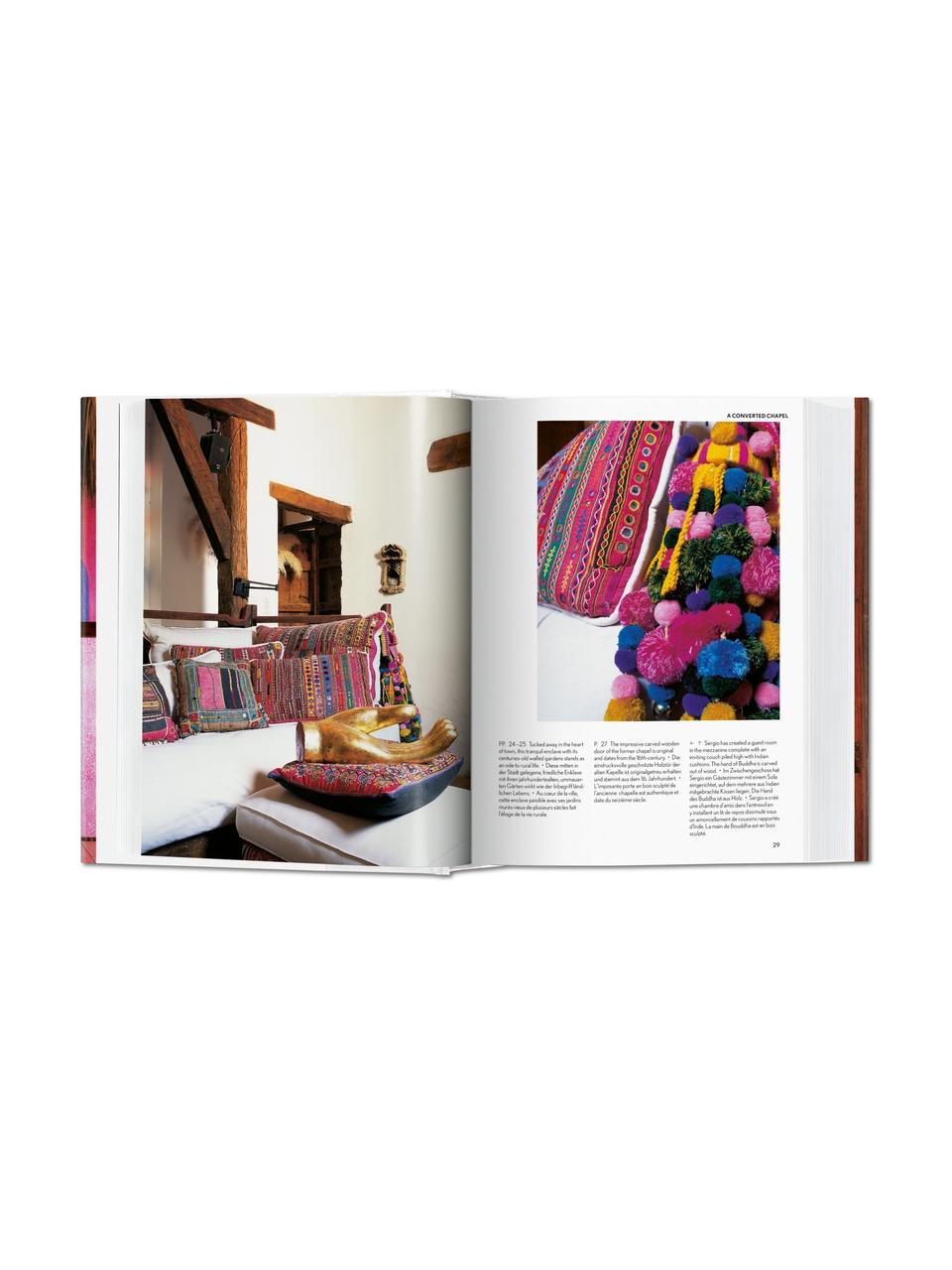 Bildband Living in Mexico, Papier, Hardcover, Pink, Mehrfarbig, 14 x 20 cm