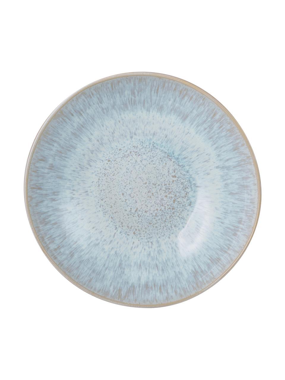 Ręcznie malowana misa do serwowania Areia, Kamionka, Jasny niebieski, złamana biel, jasny beżowy, Ø 22 x W 5 cm