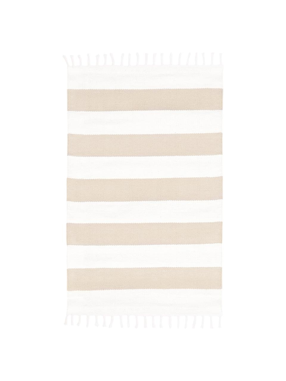 Ręcznie tkany dywan z bawełny Blocker, 100% bawełna, Beżowy, S 200 x D 300 cm (Rozmiar L)