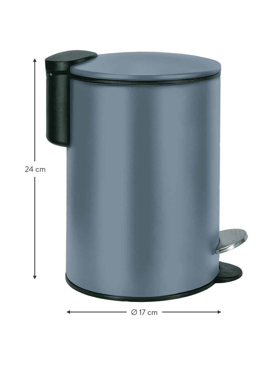 Abfalleimer Silence mit Pedalfunktion, Metall, lackiert, Dunkelblau, Ø 17 x H 24 cm
