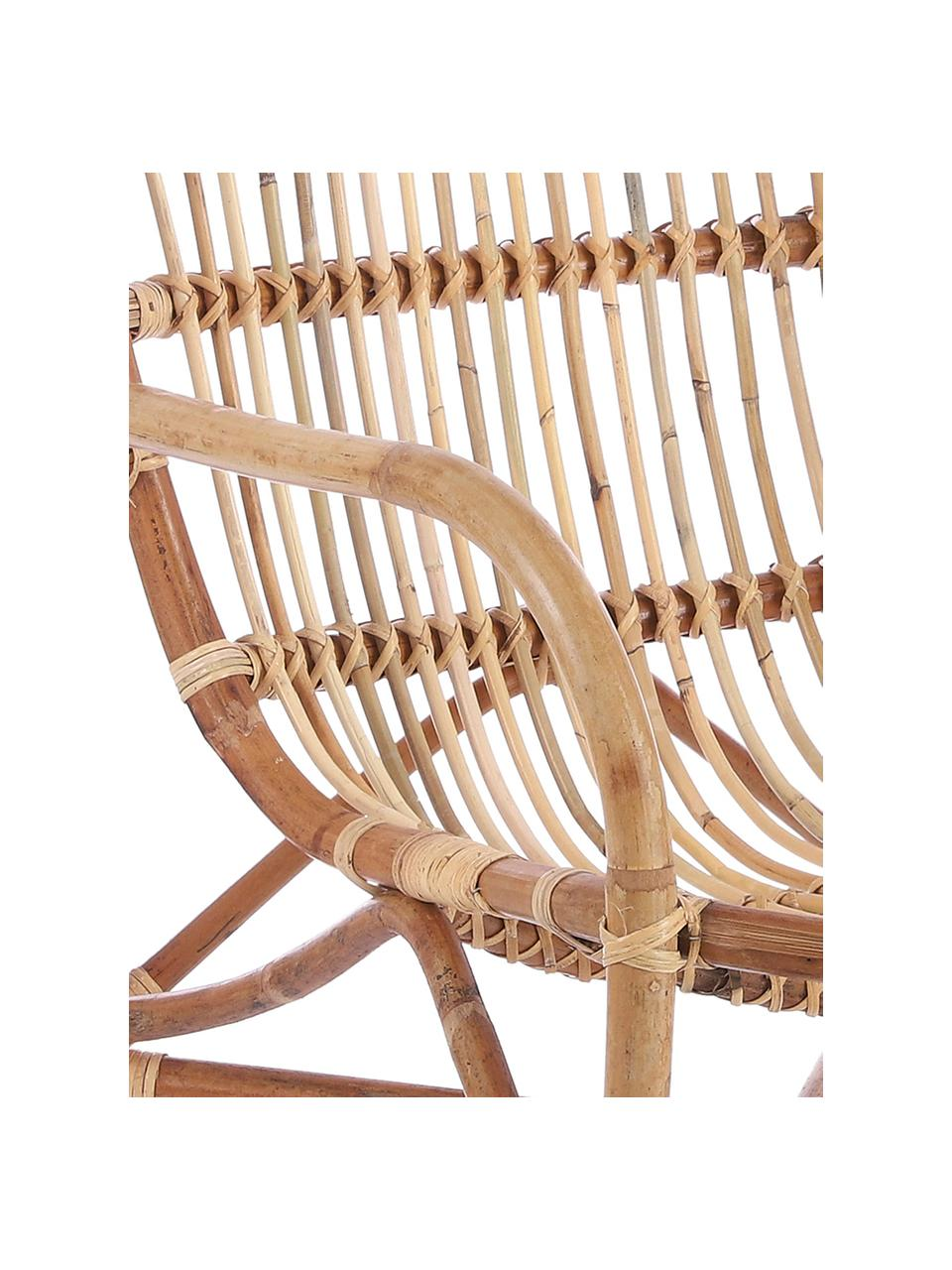Fotel wypoczynkowy z rattanu Xevera, Rattan, Rattan, S 75 x G 64 cm