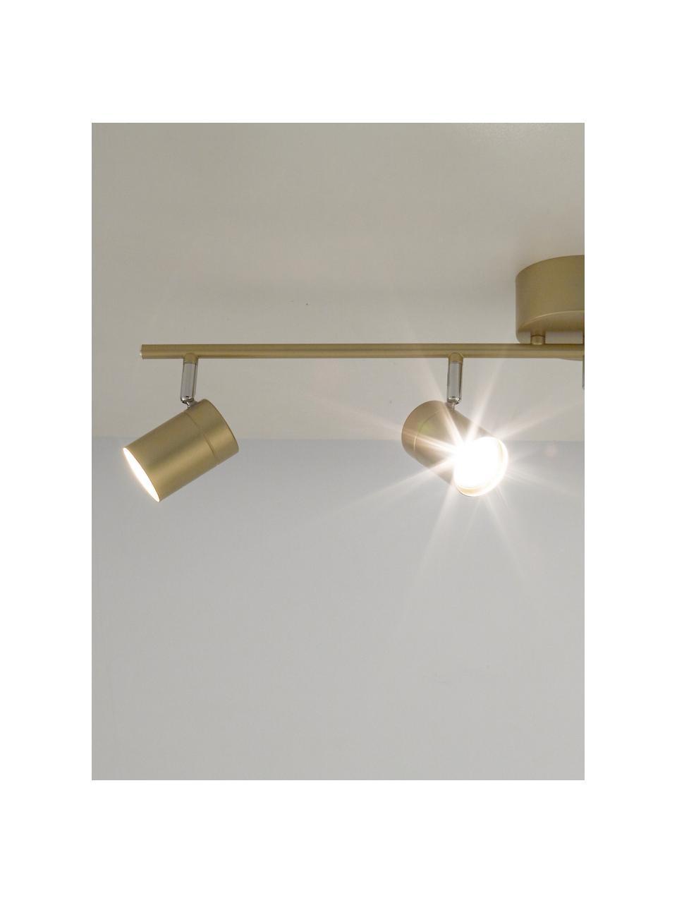 Faretti da soffitto dorati Correct, Paralume: metallo rivestito, Struttura: metallo rivestito, Baldacchino: metallo rivestito, Dorato, Larg. 83 x Alt. 18 cm