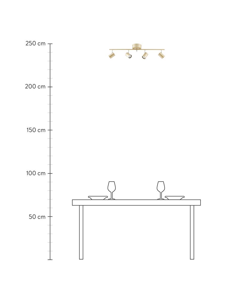 Lampa sufitowa Correct, Odcienie złotego, S 83 x W 18 cm