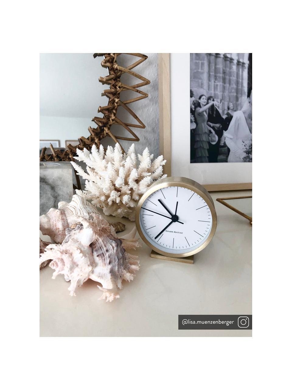 Sveglia Hannah, Cornice: alluminio, Quadrante: carta, Dorato, Ø 9 x Alt. 9 cm