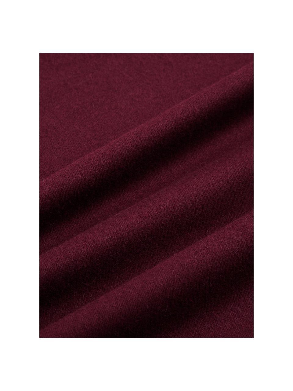 Flanell-Bettwäsche Biba in Dunkelrot, Webart: Flanell Flanell ist ein k, Dunkelrot, 135 x 200 cm + 1 Kissen 80 x 80 cm