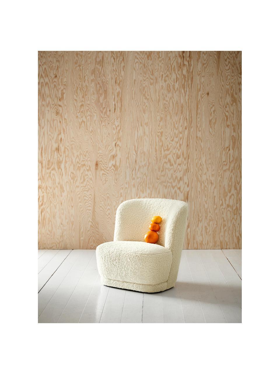 Kindersessel Marella, Bezug: Polyester, Gestell: Kiefernholz, Cremeweiß, B 54 x T 56 cm