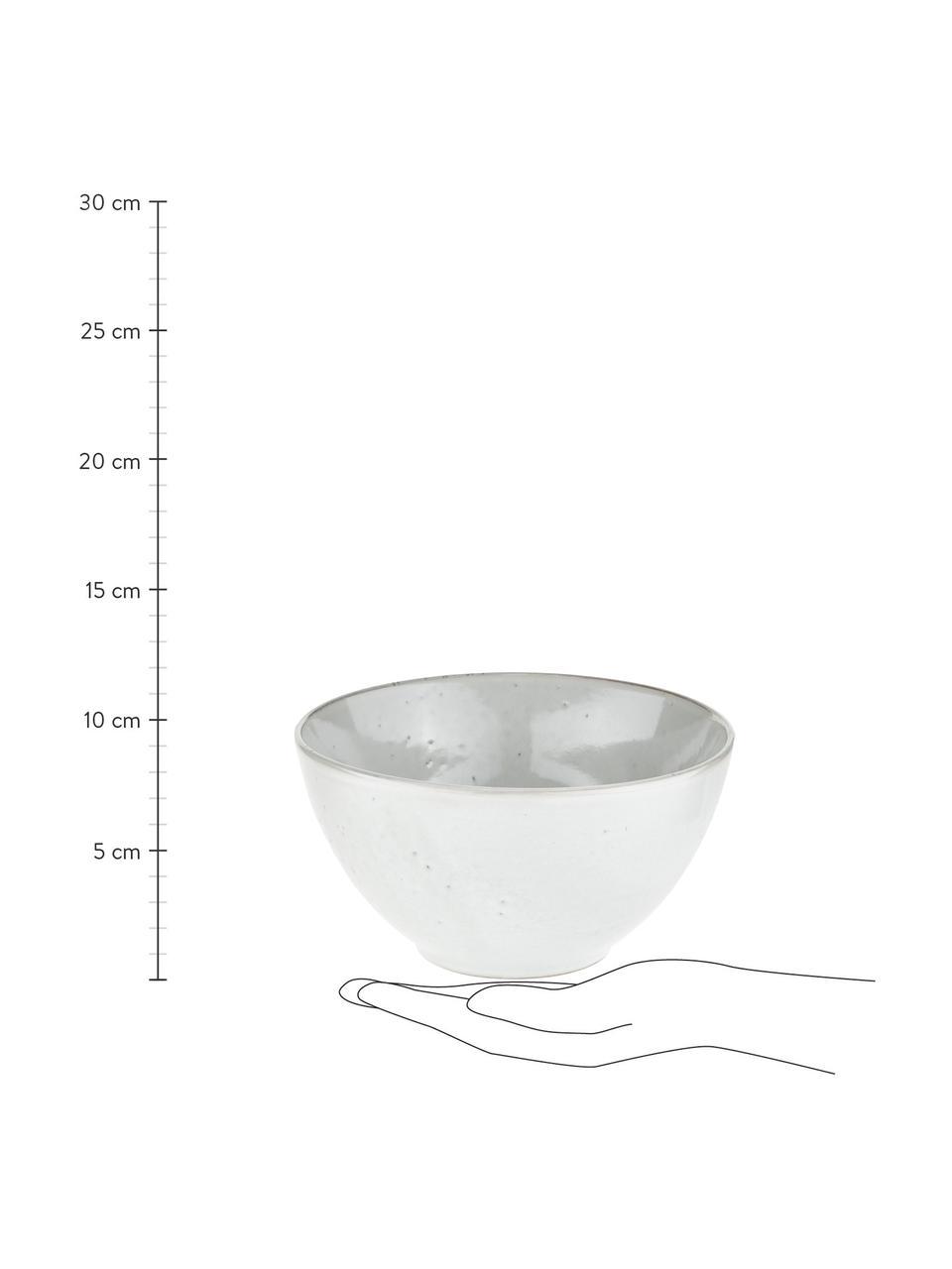 Bol en grès fait main Nordic Sand Ø17cm, 4pièces, Gris/beige