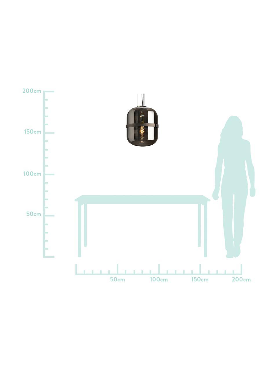 Lampa wisząca ze szkła Baloni, Ciemnyszary, Ø 34 x W 45 cm