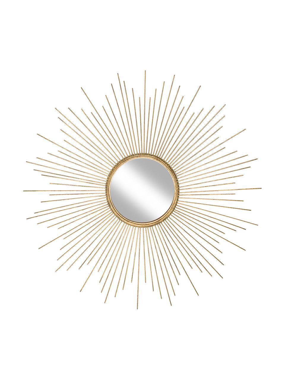 Ronde zonnespiegel Ella goudkleurig, Frame: metaal, Goudkleurig, Ø 98 cm