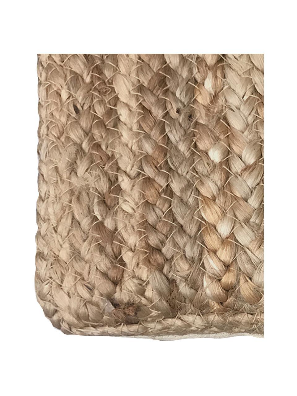 Jute-Kissenhülle Ural, Vorderseite: Jute, Rückseite: Baumwolle, Jute, 60 x 60 cm