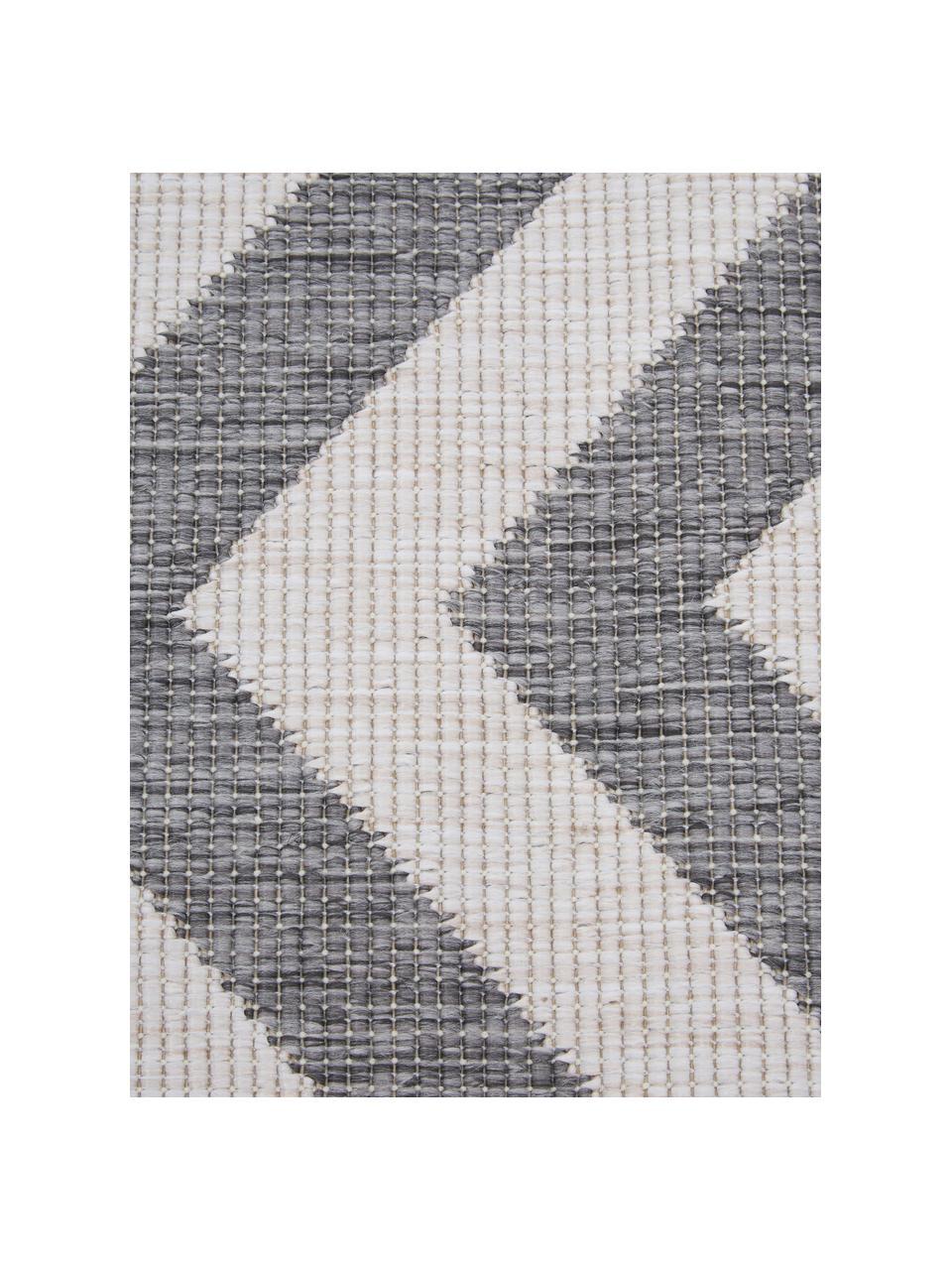 Tappeto reversibile da interno-esterno  con motivo zigzag  Palma, Grigio, crema, Larg.160 x Lung. 230 cm  (taglia M)