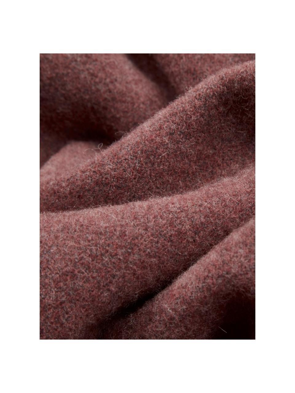 Kaschmirdecke Liliana in Rostrot/Grau, 80%Wolle, 20%Kaschmir, Rosarot, Grau, 130 x 170 cm