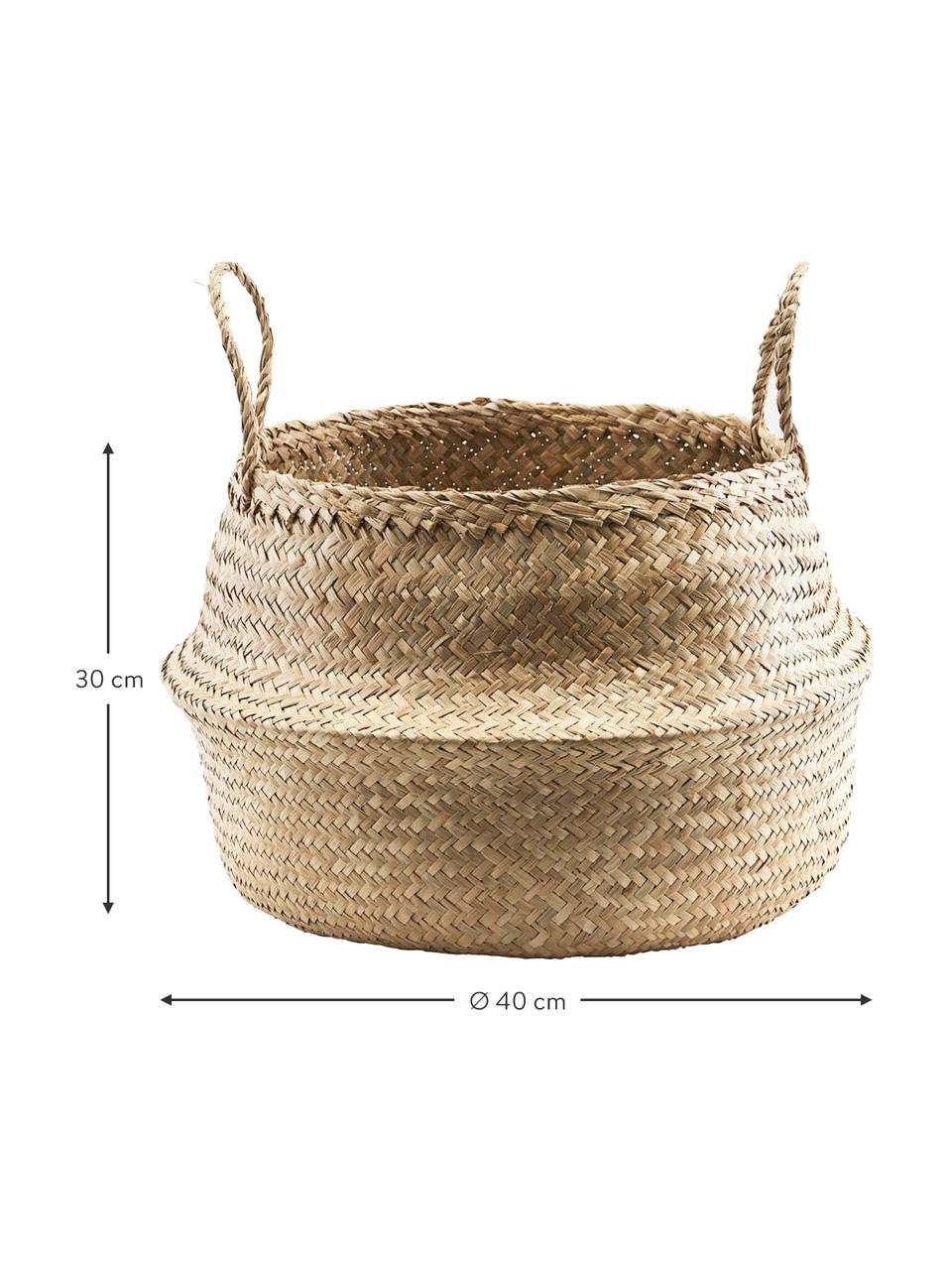 Kosz do przechowywania Tanger, Włókno naturalne, Beżowy, Ø 45 x W 32 cm