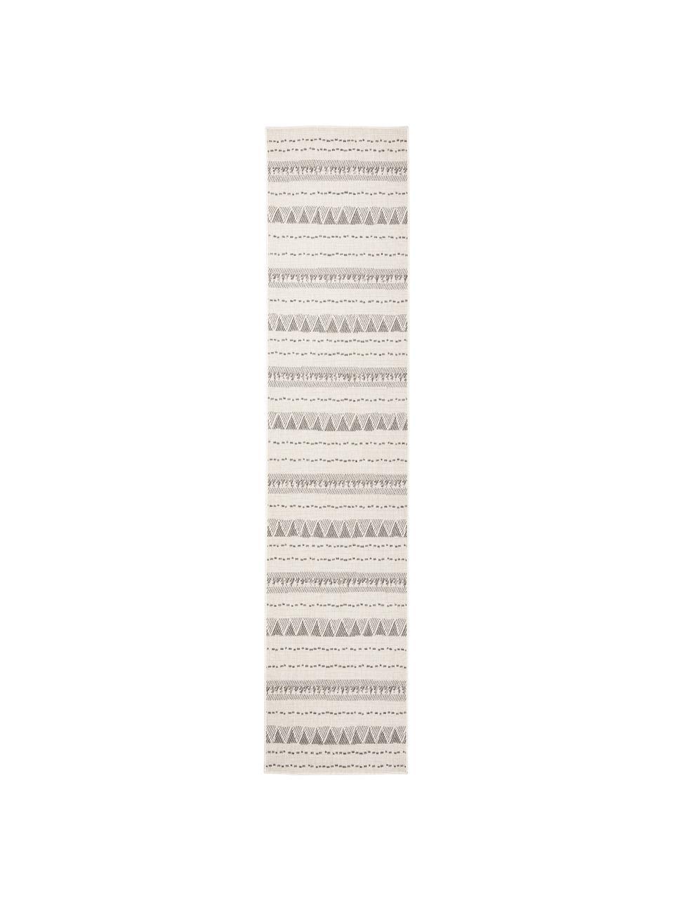 In- & Outdoor-Wendeläufer Bahamas in Grau/Creme, 100% Polypropylen, Grau, Cremefarben, 80 x 350 cm