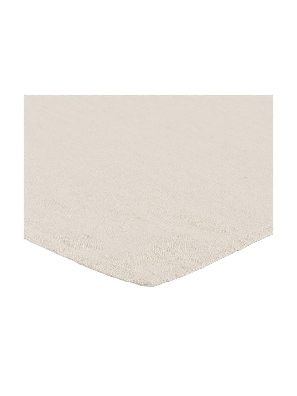 Leinen-Servietten Sunshine in Hellbeige, 4 Stück, Leinen, Aschweiß, 45 x 45 cm