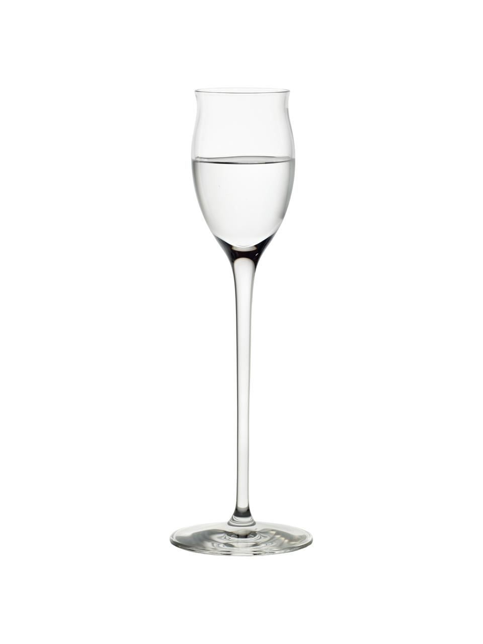 Kieliszek do likieru ze szkła kryształowego Quatrophil, 6 szt., Szkło kryształowe, Transparentny, Ø 6 x W 20 cm