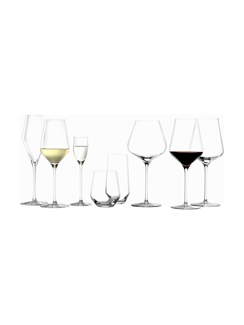 Kristall-Likörgläser Quatrophil, 6 Stück, Kristallglas, Transparent, Ø 6 x H 20 cm