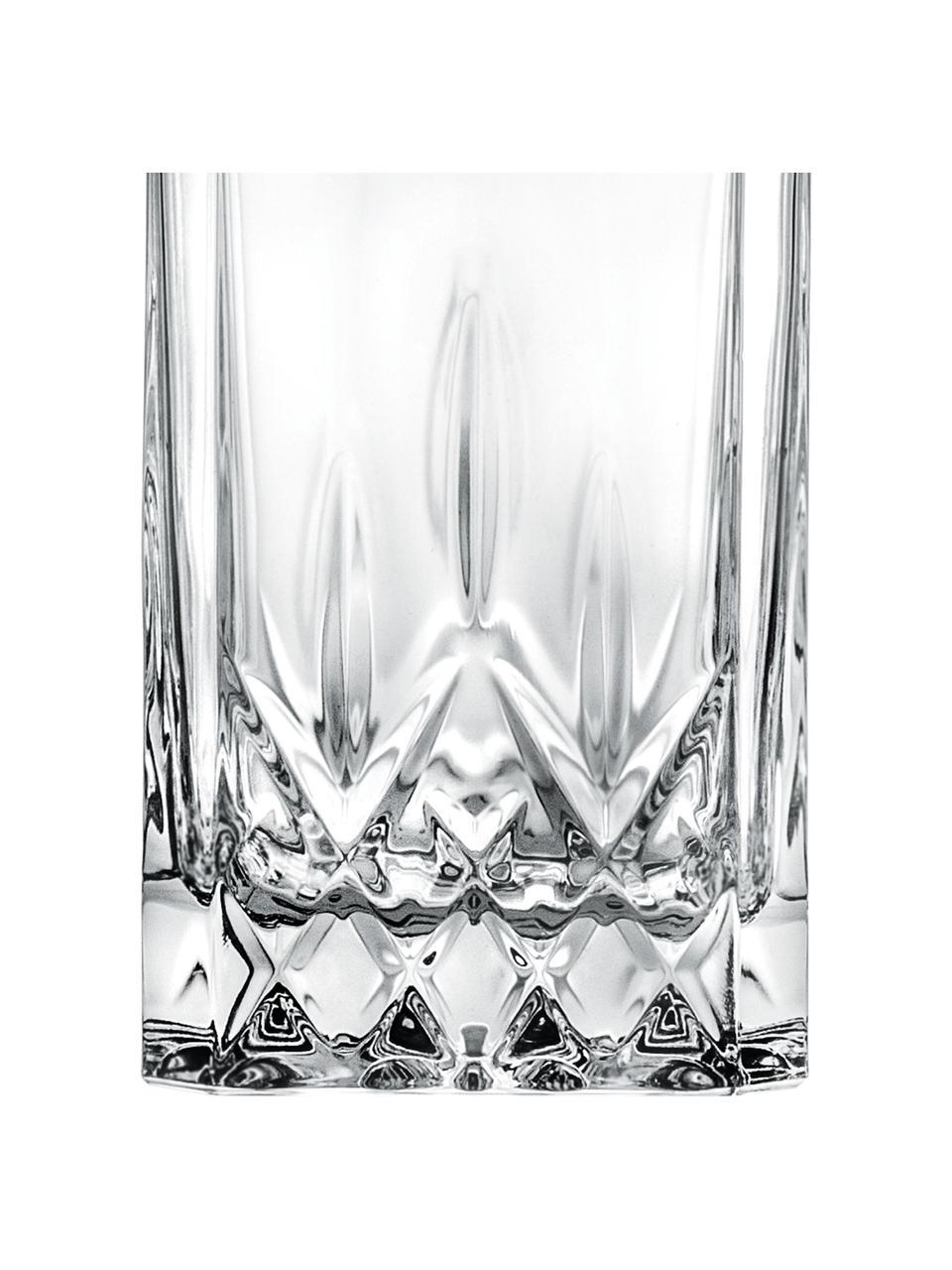 Bottiglia in cristallo con motivo a rilievo Opera, 750 ml, Cristallo, Trasparente, Alt. 22 cm