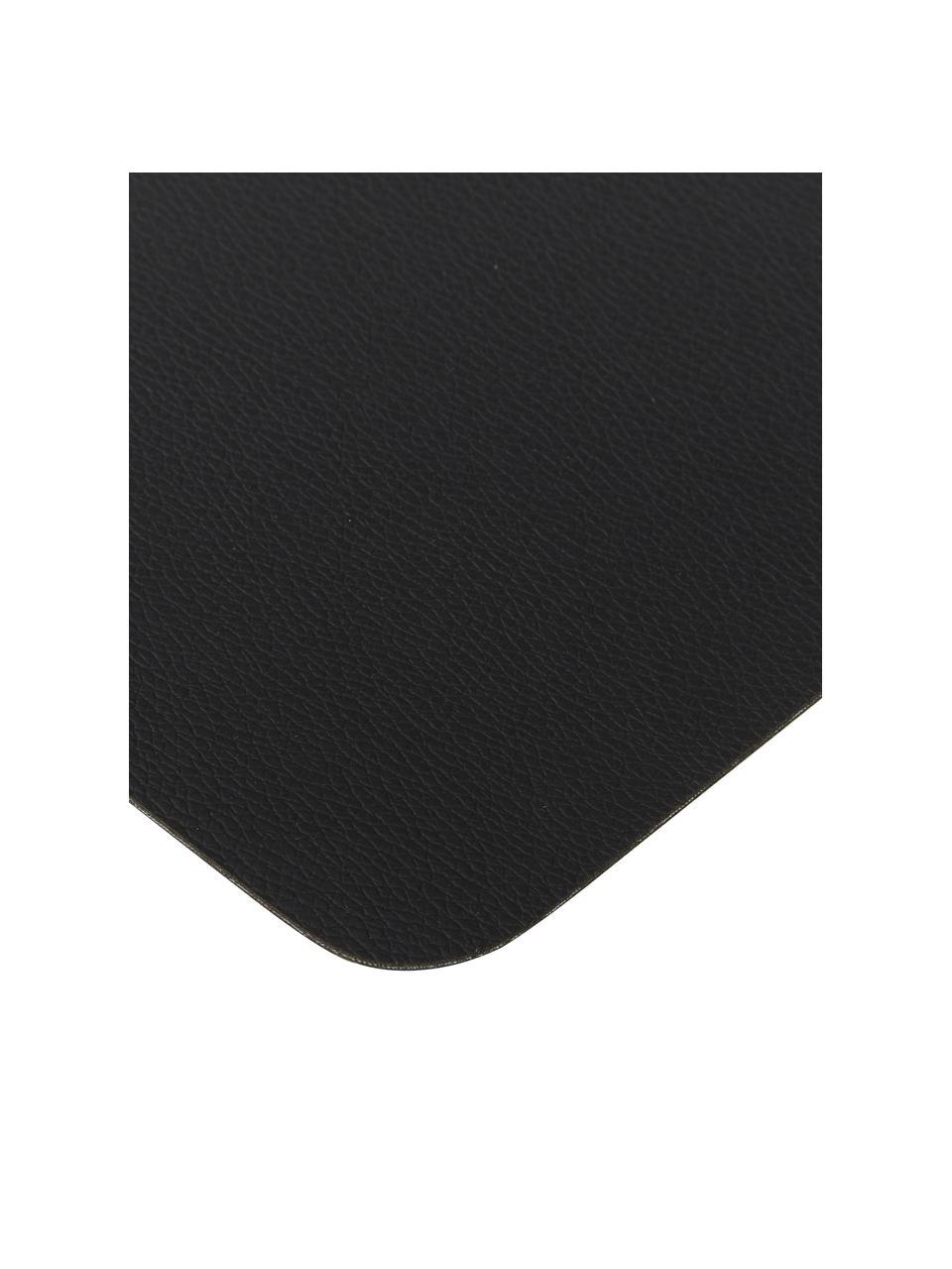 Tovaglietta americana in similpelle Pik 2 pz, Materiale sintetico (PVC), Nero, Larg. 33 x Lung. 46 cm