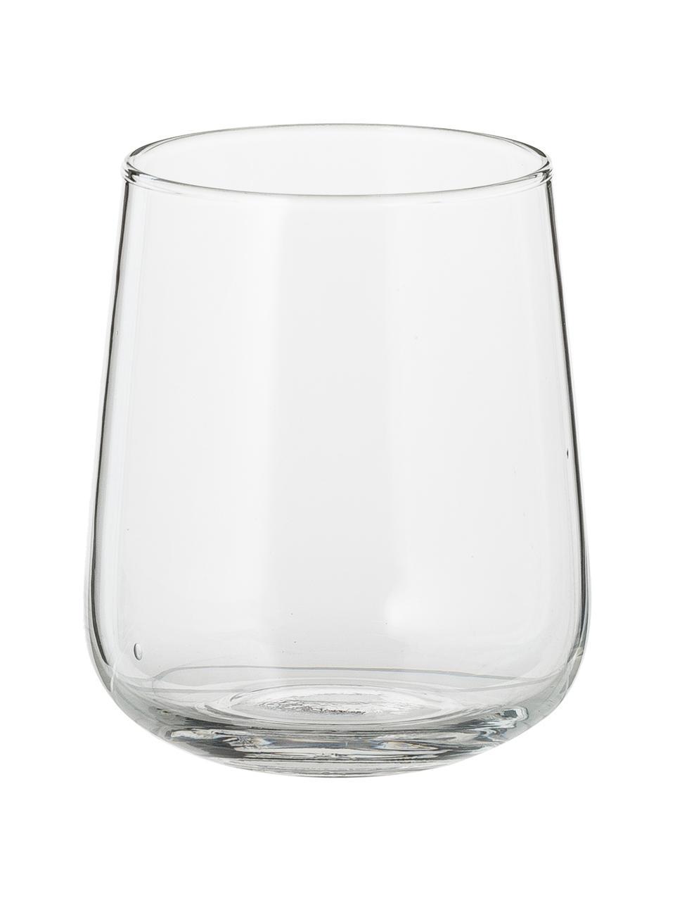 Verre à eau en verre soufflé bouche Diseguale, 6élém., Transparent