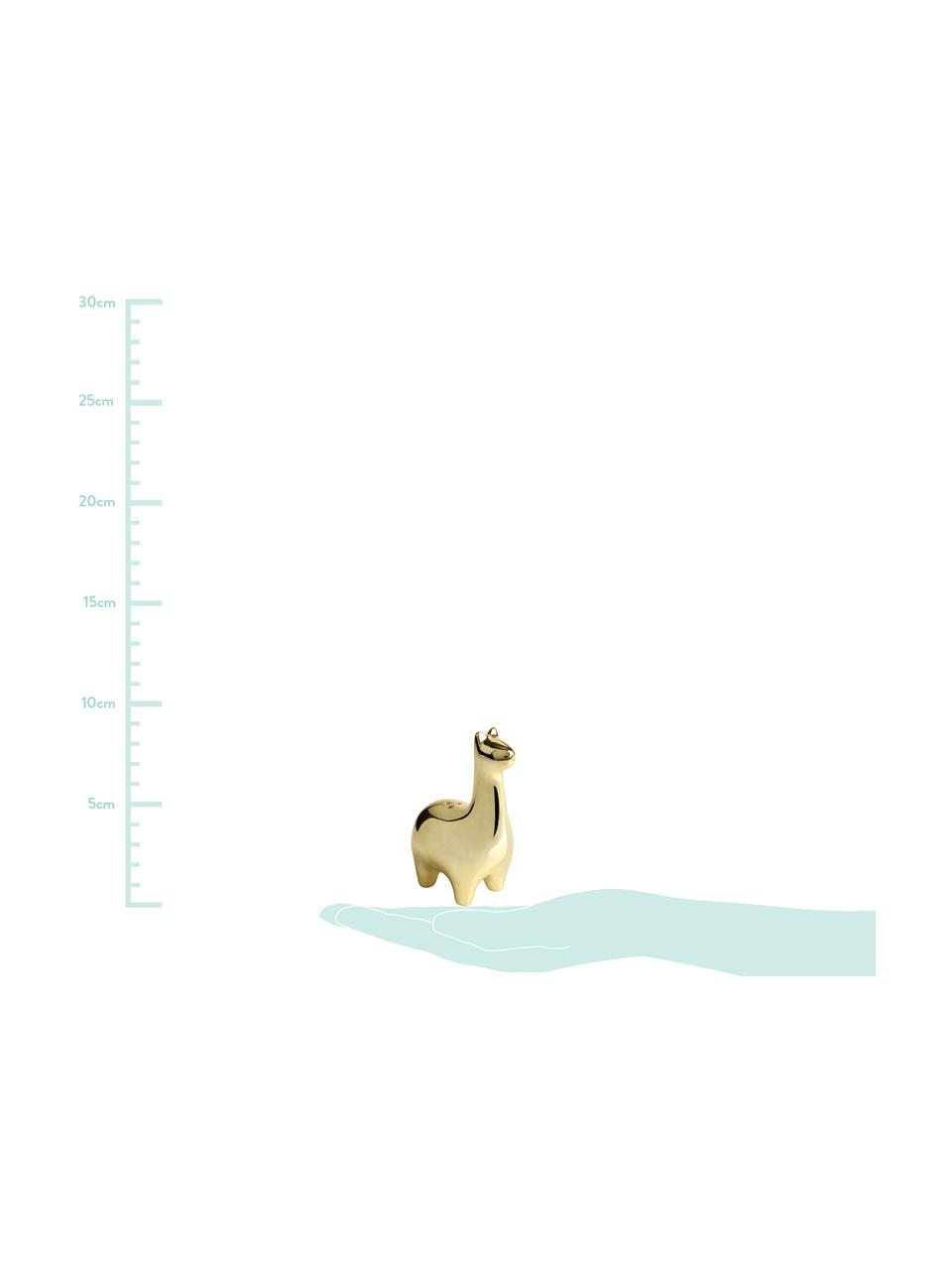 Set saliera e pepiera Lamas 2 pz, Ceramica, Ottonato, Larg. 5 x Alt. 9 cm