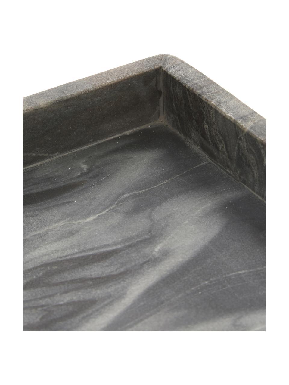 Taca dekoracyjna z marmuru Ciaran, Marmur, Szary, marmurowy, S 30 x G 30 cm