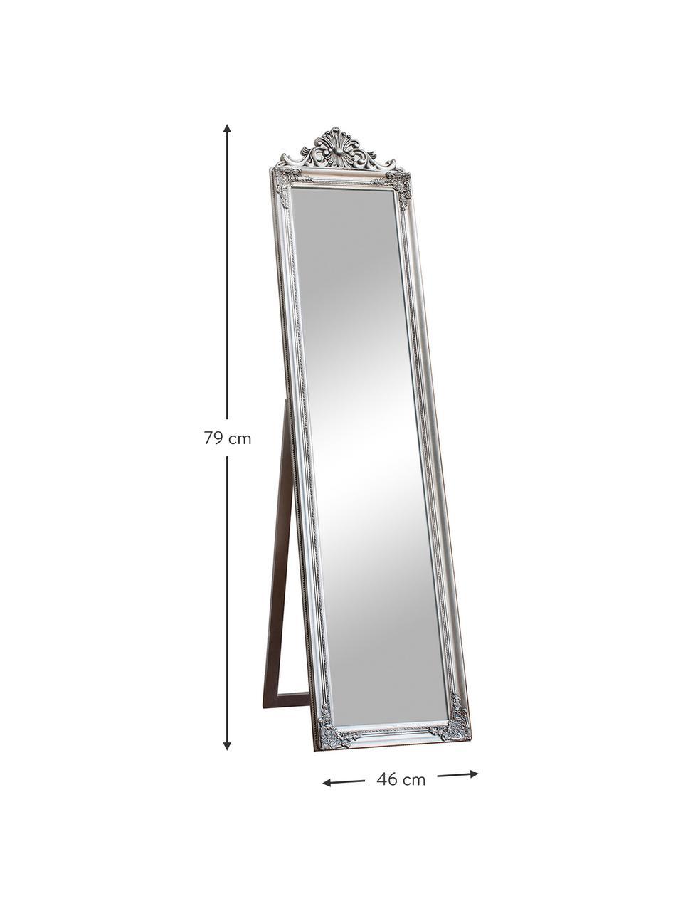 Lustro stojące Lambeth, Odcienie srebrnego, S 46 x W 79 cm