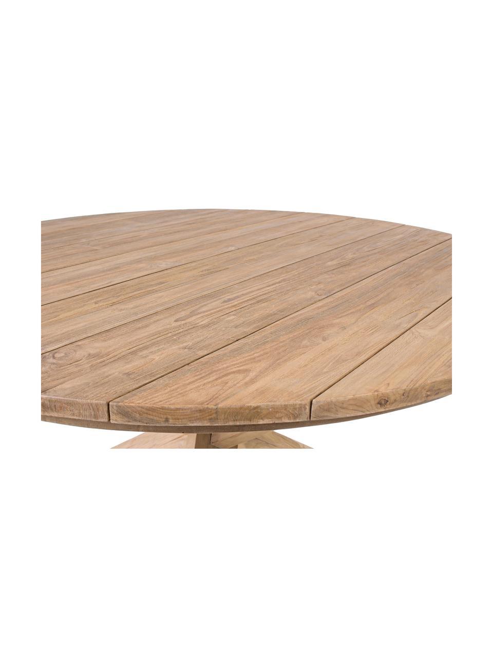 Tavolo da pranzo in legno massiccio Rift, Legno di teak, riciclato e certificato FSC, Teak riciclato, Ø 135 x Alt. 76 cm
