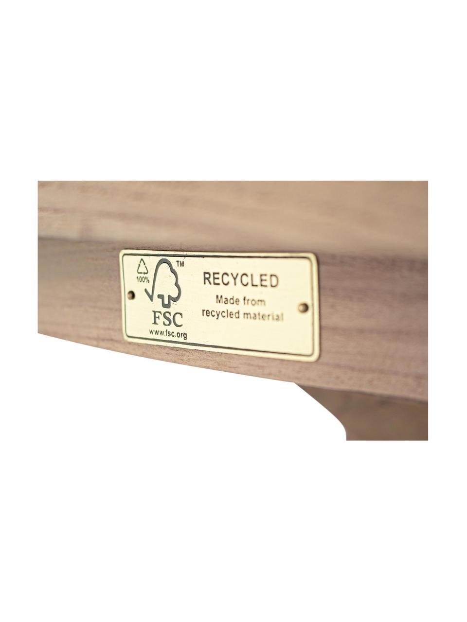 Ronde eettafel Rift met gerecycled teak blad, Ø 135 cm, Teakhout, gerecycled en FSC-gecertificeerd, Teak, Ø 135 x H 76 cm
