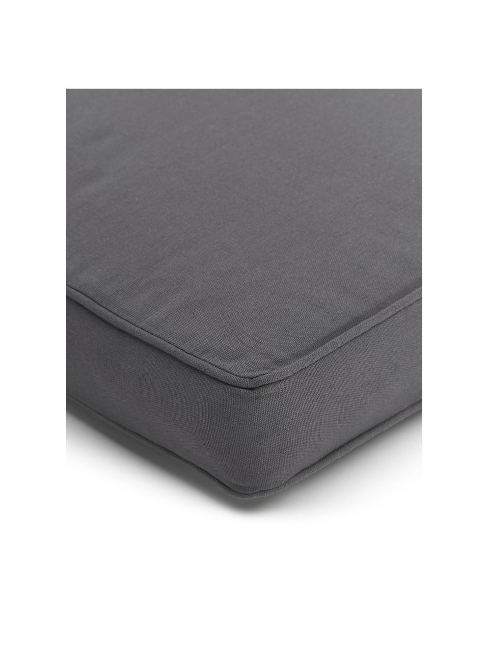 Hohes Sitzkissen Zoey in Dunkelgrau, Bezug: 100% Baumwolle, Grau, 40 x 40 cm